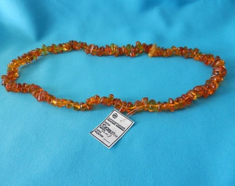 Vintage Russian Amber Necklace  Genuine Amber 1990's