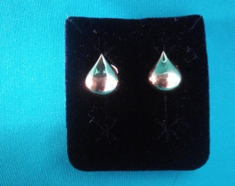 Trifari Tear Drop Clip On Earrings Vintage