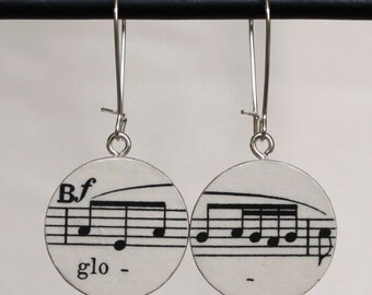 "Bach B-minor Mass ""Gloria"" Soprano Handmade Recycled Paper Earrings"
