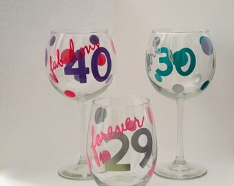 Fabulous at Any Age Wine Glasses