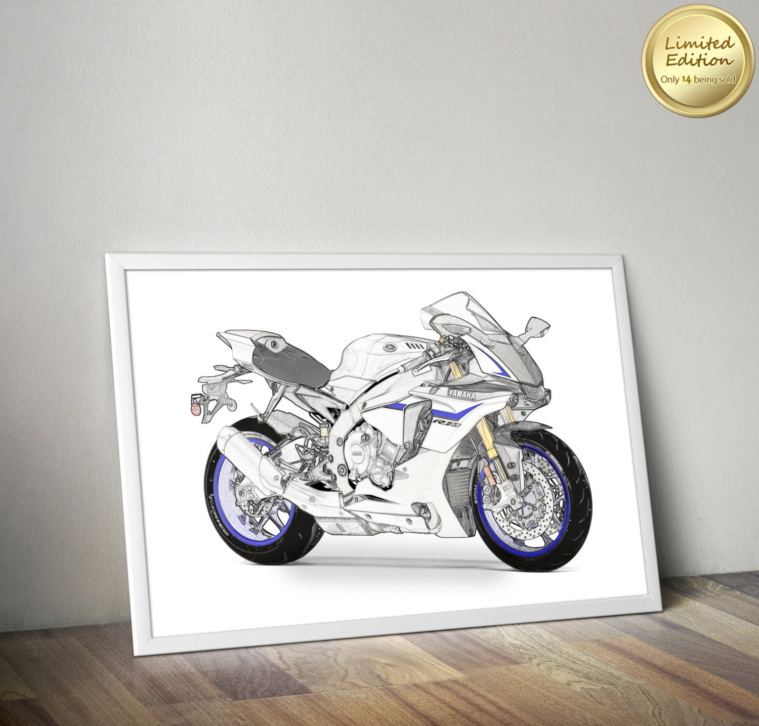 Yamaha motorcycle gloves india - Yamaha Poster Print Yamaha Motorcycle Poster A3 Print Biker Gift Print Canvas Big Format Motorcycle Print Sportbike Limited Edition