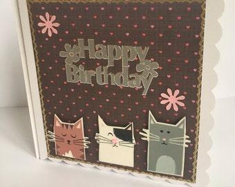 Happy Birthday Cat Card 104