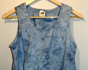 Tie Dye acid wash vest crop top Cutoff  Tshirt hipster festival grunge Retro 90s indie dip dye indie rave skate top
