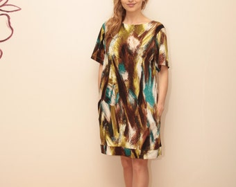 Colorful Dress /  Short Dress / Knee Length Dress