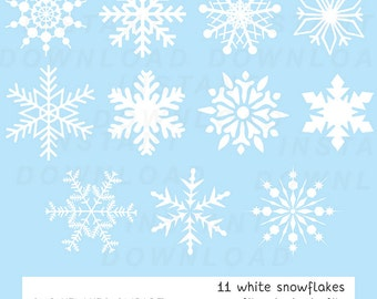 Snowflake Clipart, Christmas Clipart, Winter Clipart, Instant Download, Digital Scrapbooking, Christmas Download, Christmas Decorations