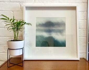 Water Reflection Print, Fine Art Photography, Limited Edition, Australia Ocean, Meditation Print, Seascape, Blue Ocean Print, Wedding Gift
