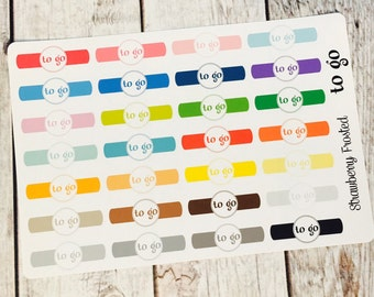 TO-GO Headers Planner Stickers - Made to fit Vertical or Horizontal Layout