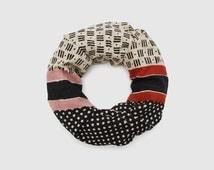 block printed scarf -natural dye- design in italy/block printed in india