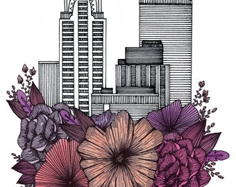 NYC Floral Cityscape