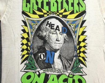 """1988 Gaye Bykers on Acid """"Head On, Wigged Out"""" Tour T-shirt"""