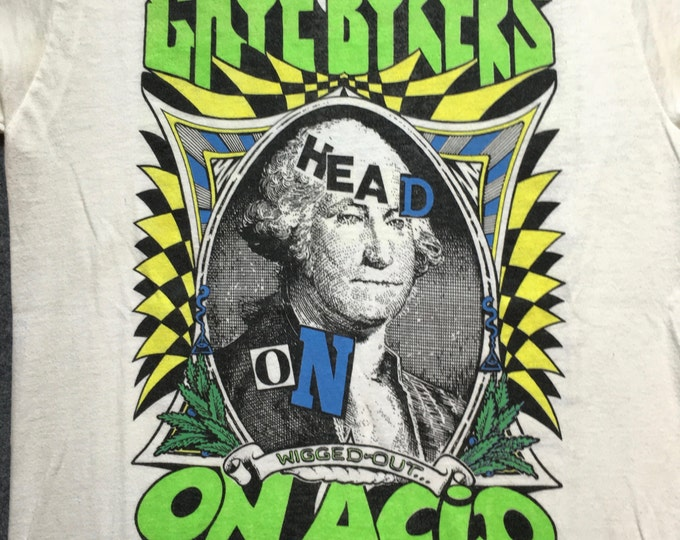 "1988 Gaye Bykers on Acid ""Head On, Wigged Out"" Tour T-shirt"