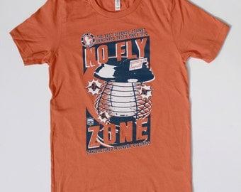 Denver Broncos - No Fly Zone - Orange Crush Defense - Vintage Bronco Shirt