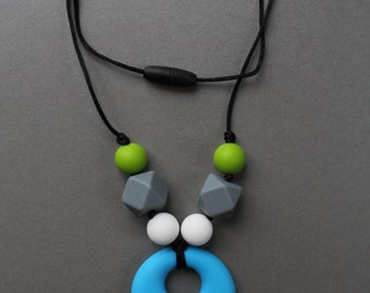 NATHAN - Necklace mother of teething chew by baby TOUPIDOU silicone