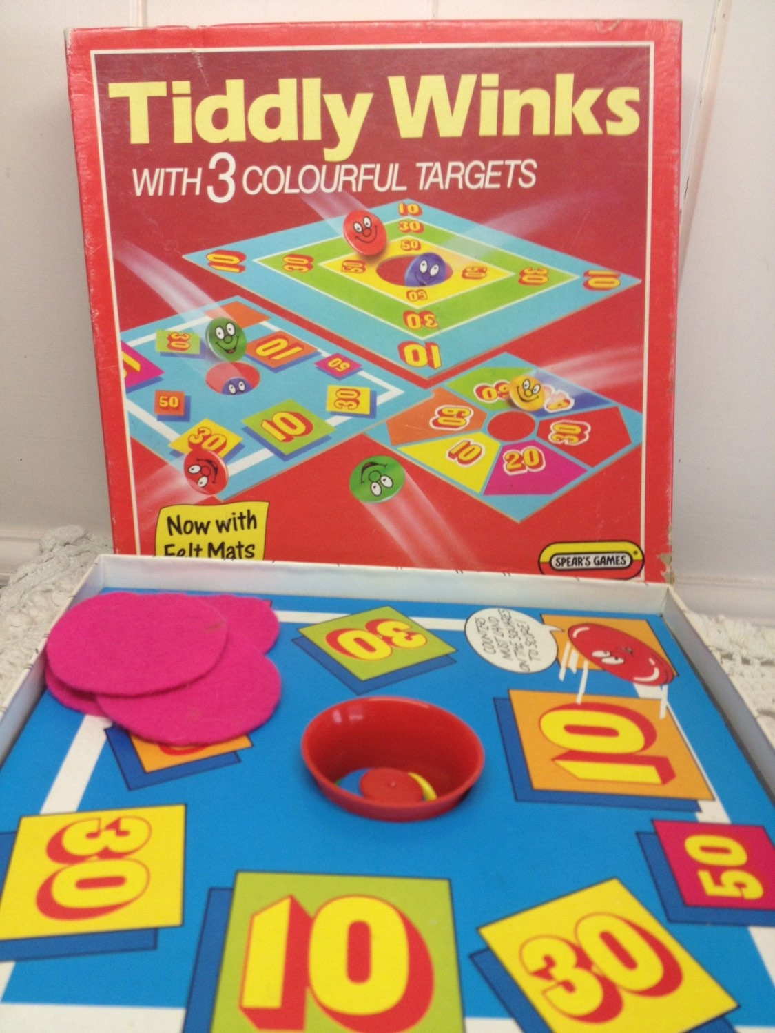 Vintage Toys And Games : Tiddly winks s game retro toy vintage