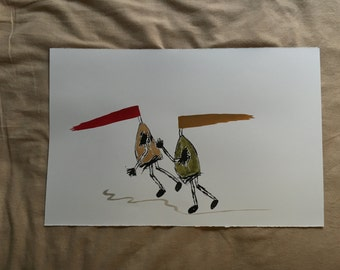 Ink and Watercolor