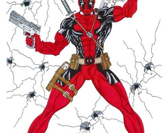 Deadpool Poster, Deadpool Print, Deadpool Digital Download