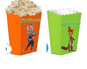 Zootopia treat boxes
