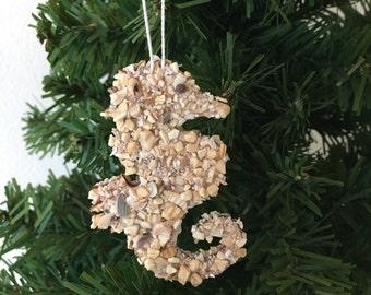 Seahorse Ornament / Coastal Decor / Hostess Gift