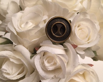 Vintage Open Button Ring