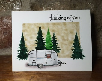 Airstream in the mountains card