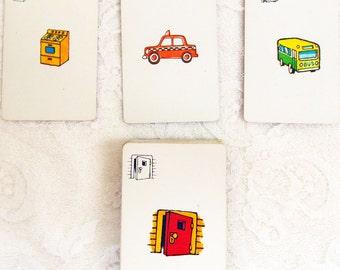 Vintage Flash Cards, Concentration Flash,Focus Flash,Home School Flash,Homeschool flash,Ghost Flash Cards,Boo Flash cards,Graphic Only Flash