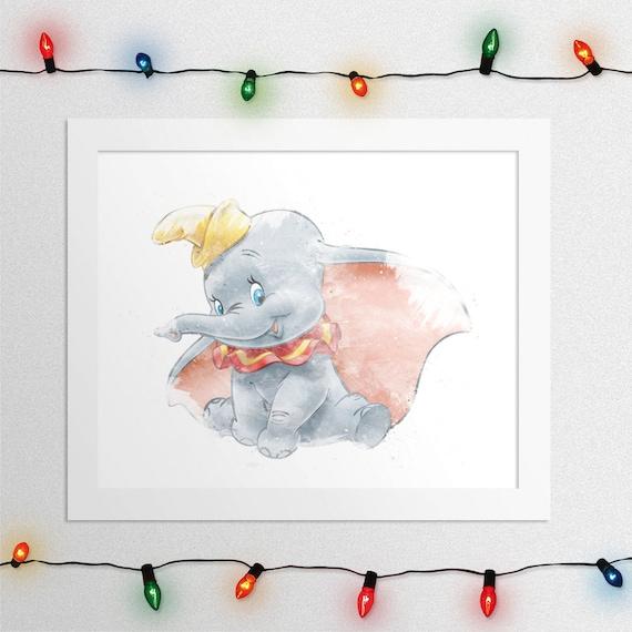 Disney Dumbo Dumbo Print Dumbo Watercolor Baby Dumbo Dumbo
