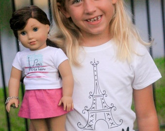 Grace Inspired American Girl Paris Eiffel Tower Boston Terrier Shirt