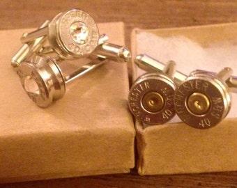 Bullet Bling Cuff links