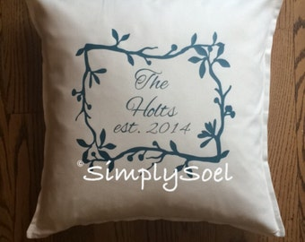 Family/Marriage established pillow cover 20x20