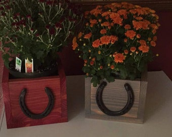 Horseshoe Planters