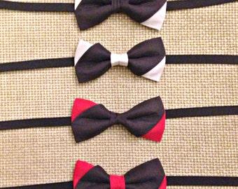Black silk bow tie-white/red/A choice