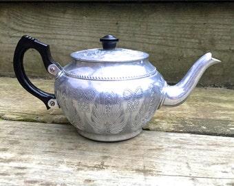 Vintage Aluminum Tea Pot, Sona Ware
