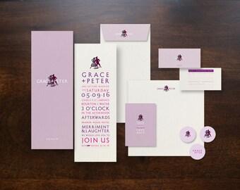 Beautiful Bespoke Designed Wedding Invitation