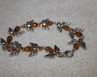 Angel glass crystal bracelet