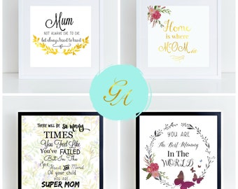 Mother's Day Art Print, Printable Art, Typography Art Print, Gift For Mom,Typography For Mum,Mother's Day Typography,Mum Typography,Wall Art