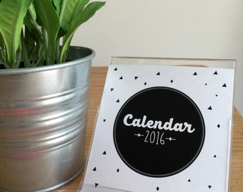 2016 Desk Calendar - Black and White (available for 2017)