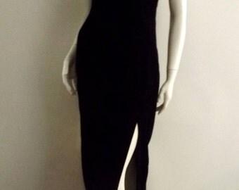 VINTAGE GUNNE SAX Velvet Maxi Dress