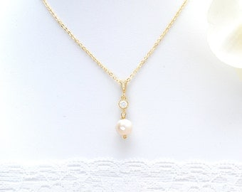 Collier married Pearl. Manohe-Bridal necklace-Bridesmaid gift-Pearl bridal necklace-Pearl Necklace Pearl marie wedding jewelry wedding