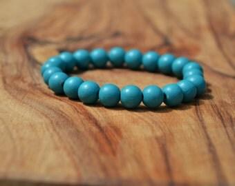 Aqua Wood - 8mm Wooden Bead Bracelet