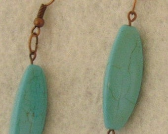 Turquoise Torpedo Earrings