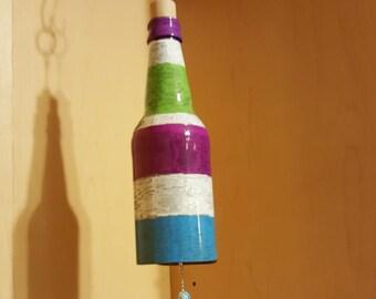 Custom Beer Bottle Wind Chime, Upcycled Bottle Windchime