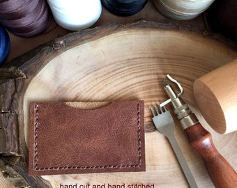 Distressed Leather Card Case,Leather Card Holder,Minimalist Card Case,Boho Wallet,Leather Wallet,Leather Case,Money Clip,Leather Pouch