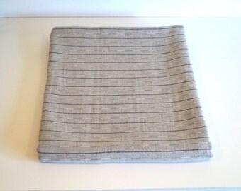 Vintage Rectangle Tablecloth, Striped Linen Tablecloth,Sailor Swedish organic linen, flax Tablecloth. 240 cm x 145 cm. Scandinavian design