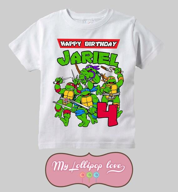 Teenage mutant ninja turtles birthday shirt for boys for Where can i buy ninja turtle shirts