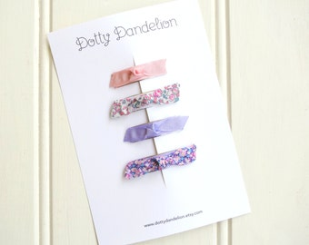 Baby Hair Clips | Baby Hair Clip Set, Baby Snap Clips, Toddler Hair Clips, Toddler hair Clip Set, Pink Baby Hair Clips, Liberty Hair Clips