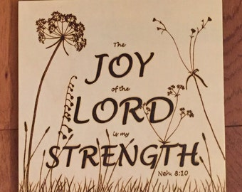 Joy of the Lord plaque
