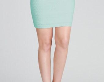 Textured Ponti Skirt