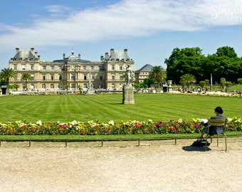 Reading in Luxembourg Gardens: Luxembourg Gardens, Paris, France, Travel Photo, Paris Wall Art, Travel Photography