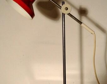 Red 60s desk lamp