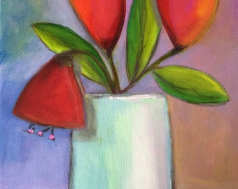 Whimsical Flowers - Acrylic Painting